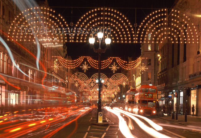 england793: London, England: Christmas Lights, Regent Street - West End - Westminster illuminations - photo by A.Bartel - (c) Travel-Images.com - Stock Photography agency - Image Bank