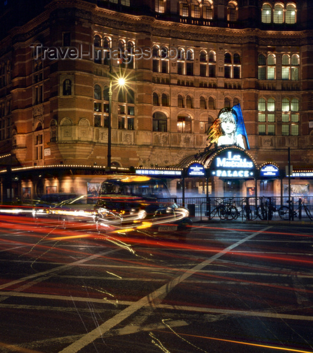 england797: London, England: taxi and Palace Theatre - City of Westminster - photo by A.Bartel - (c) Travel-Images.com - Stock Photography agency - Image Bank