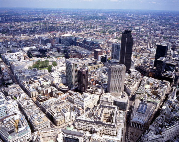 england800: London, England: The City, Bank of England, Royal Exchange and bank buildings - Threadneedle Street - Aerial - photo by A.Bartel - (c) Travel-Images.com - Stock Photography agency - Image Bank