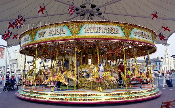 england85: England (UK) - Southport (Merseyside): Merry-go-Round - photo by David S. Jackson - (c) Travel-Images.com - Stock Photography agency - Image Bank
