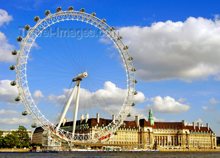 england91: London: Ferris wheel on the Thames river - BA London Eye - Lambeth - photo by B.Henry - (c) Travel-Images.com - Stock Photography agency - Image Bank