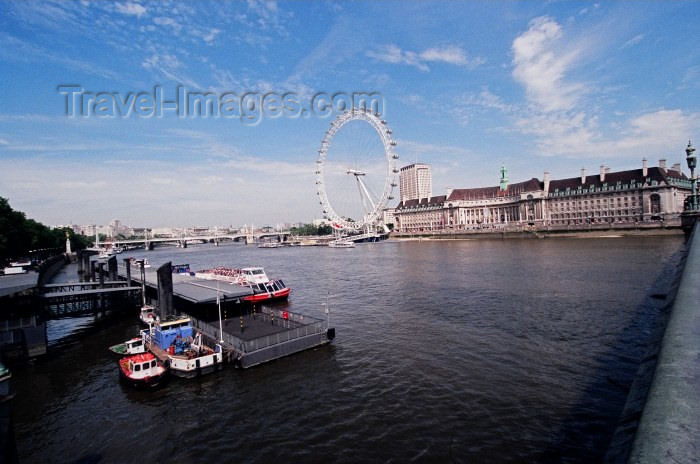 england92: London: the Thames river  from Westminster bridge / Tamisa - photo by Craig Ariav - (c) Travel-Images.com - Stock Photography agency - Image Bank