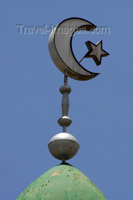 eritrea16: Eritrea - Asmara / Asmera: minaret detail - crescent and star - symbols of Islam - photo by E.Petitalot - (c) Travel-Images.com - Stock Photography agency - Image Bank