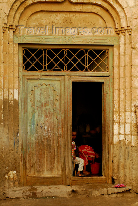 eritrea33: Eritrea - Massawa, Northern Red Sea region: Ottoman architecture - a door in the old quarter - photo by E.Petitalot - (c) Travel-Images.com - Stock Photography agency - Image Bank