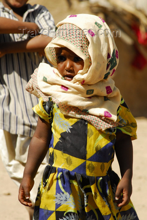 eritrea56: Eritrea - Hagaz, Anseba region - a young girl with hijab in a desert village - photo by E.Petitalot - (c) Travel-Images.com - Stock Photography agency - Image Bank