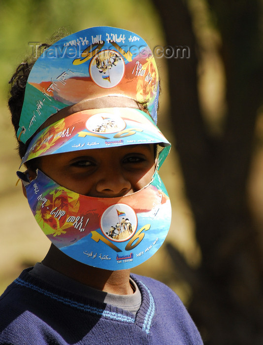 eritrea8: Eritrea - Asmara: kid playing with caps - photo by E.Petitalot - (c) Travel-Images.com - Stock Photography agency - Image Bank