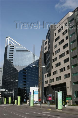 estonia117: Estonia -  Tallinn: estonian bank Eesti Ühispank - business district - tower - Estonian Union Bank Headquarters in Tallinn, designed by architects, AB R. Puusepp Stuudio - photo by A.Dnieprowsky - (c) Travel-Images.com - Stock Photography agency - Image Bank