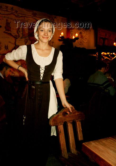 estonia163: Estonia - allinn - Old Town - Old Hansa - Costumed Server - Estonian girl - photo by K.Hagen - (c) Travel-Images.com - Stock Photography agency - Image Bank