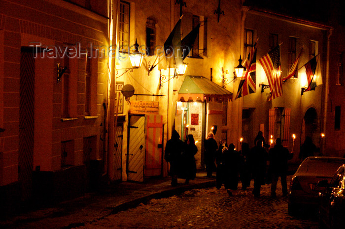 estonia173: Estonia - Tallinn - Old Town - Torchlit Procession - photo by K.Hagen - (c) Travel-Images.com - Stock Photography agency - Image Bank