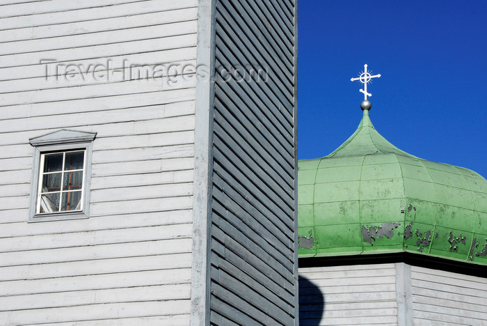 estonia180: Estonia, Tallinn, Traditional wooden church detail - spire and dome - photo by J.Pemberton - (c) Travel-Images.com - Stock Photography agency - Image Bank