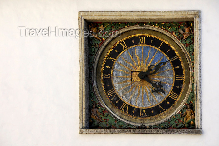 estonia188: Estonia, Tallinn: Clock of the Holy Spirit Church - photo by J.Pemberton - (c) Travel-Images.com - Stock Photography agency - Image Bank