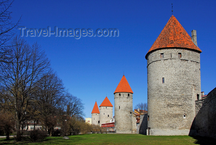 estonia190: Estonia, Tallinn: Town wall fortifications - photo by J.Pemberton - (c) Travel-Images.com - Stock Photography agency - Image Bank