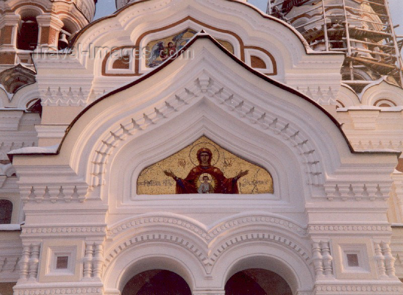 estonia23: Estonia - Tallinn: detail of the porch - Alexander Nevski Orthodox Cathedral - photo by M.Torres - (c) Travel-Images.com - Stock Photography agency - Image Bank