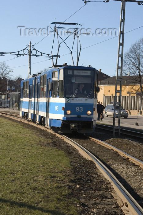 estonia78: Estonia - Tallinn: tram - Tatra KT4 - public transportation - photo by C.Schmidt - (c) Travel-Images.com - Stock Photography agency - Image Bank