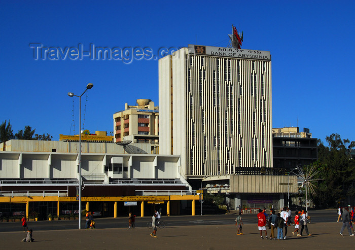 ethiopia107: Addis Ababa, Ethiopia: Bank of Abyssinia - Meskal square - photo by M.Torres - (c) Travel-Images.com - Stock Photography agency - Image Bank
