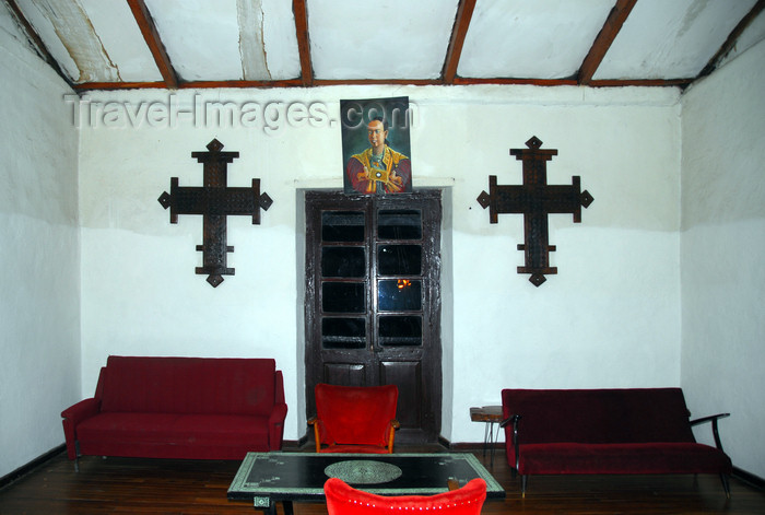 ethiopia122: Addis Ababa, Ethiopia: empress Itegue Taitu Hotel - crosses - photo by M.Torres - (c) Travel-Images.com - Stock Photography agency - Image Bank