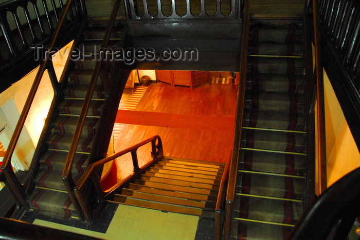 ethiopia123: Addis Ababa, Ethiopia: empress Itegue Taitu Hotel - stairs - photo by M.Torres - (c) Travel-Images.com - Stock Photography agency - Image Bank