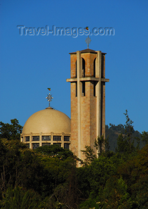 ethiopia132: Addis Ababa, Ethiopia: St. Stephanos church - seen from Meskal square - photo by M.Torres - (c) Travel-Images.com - Stock Photography agency - Image Bank