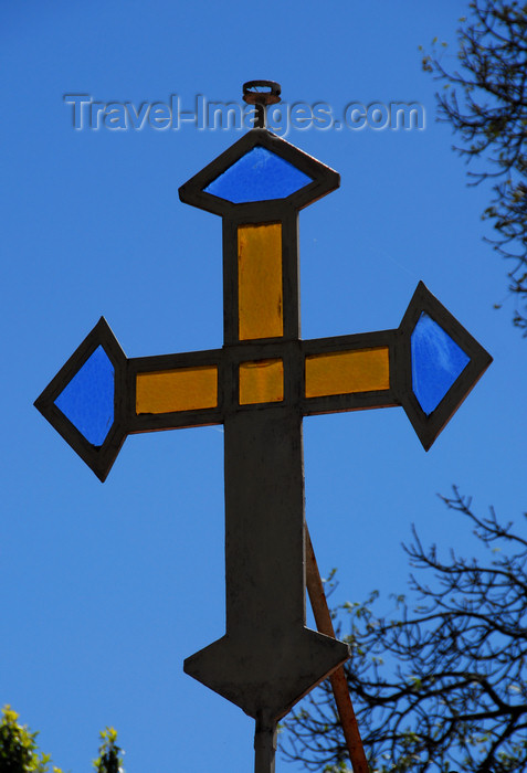 ethiopia135: Addis Ababa, Ethiopia: Urael Church - glass cross - photo by M.Torres - (c) Travel-Images.com - Stock Photography agency - Image Bank
