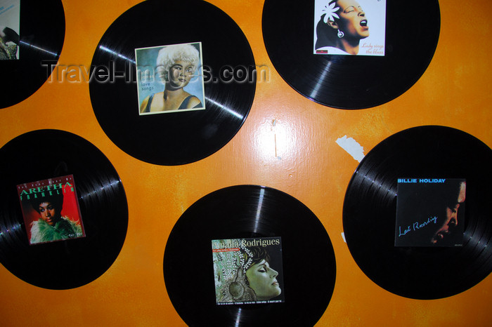 ethiopia15: Addis Ababa, Ethiopia: vinyl  - Amalia Rodrigues meetas Billie Holiday and Aretha Franklin - photo by M.Torres - (c) Travel-Images.com - Stock Photography agency - Image Bank