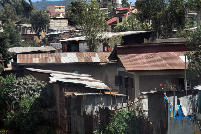 ethiopia16: Addis Ababa, Ethiopia: shanty town near Jomo Kenyatta avenue - photo by M.Torres - (c) Travel-Images.com - Stock Photography agency - Image Bank