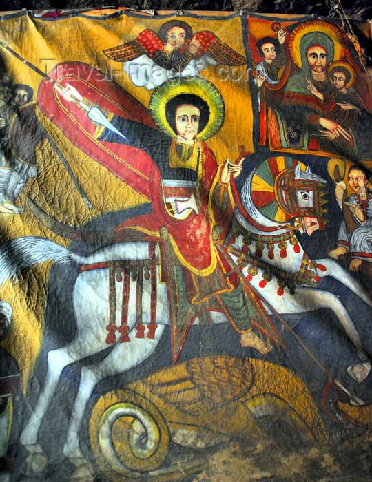 ethiopia168: Lalibela, Amhara region, Ethiopia: Bet Maryam rock-hewn church - St George - photo by M.Torres - (c) Travel-Images.com - Stock Photography agency - Image Bank