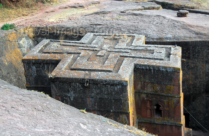 ethiopia179: Lalibela, Amhara region, Ethiopia: Bet Giyorgis rock-hewn church, built on a three-tiered plinth in the shape of a Greek cross - photo by M.Torres - (c) Travel-Images.com - Stock Photography agency - Image Bank