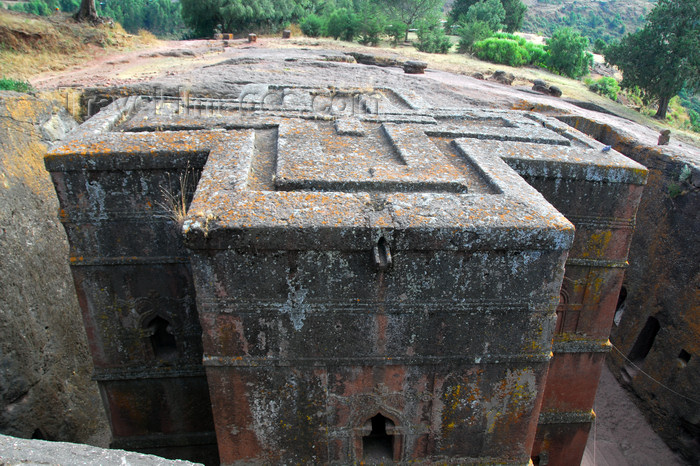 ethiopia181: Lalibela, Amhara region, Ethiopia: Bet Giyorgis / Saint George church - UNESCO world heritage site - photo by M.Torres - (c) Travel-Images.com - Stock Photography agency - Image Bank