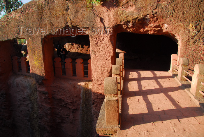 ethiopia193: Lalibela, Amhara region, Ethiopia: bridge leading to Bet Gabriel-Rufael church - photo by M.Torres - (c) Travel-Images.com - Stock Photography agency - Image Bank