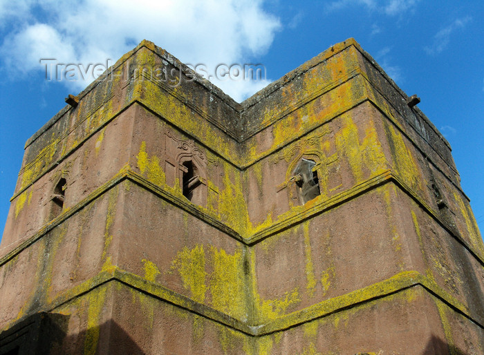 ethiopia199: Lalibela, Amhara region, Ethiopia: Bet Giyorgis rock-hewn church - the top - UNESCO world heritage site - photo by M.Torres - (c) Travel-Images.com - Stock Photography agency - Image Bank
