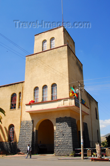 ethiopia203: Gondar, Amhara Region, Ethiopia:  Semien Gondar Zone (North Gondar) Administration Office - Italian colonial building - photo by M.Torres - (c) Travel-Images.com - Stock Photography agency - Image Bank