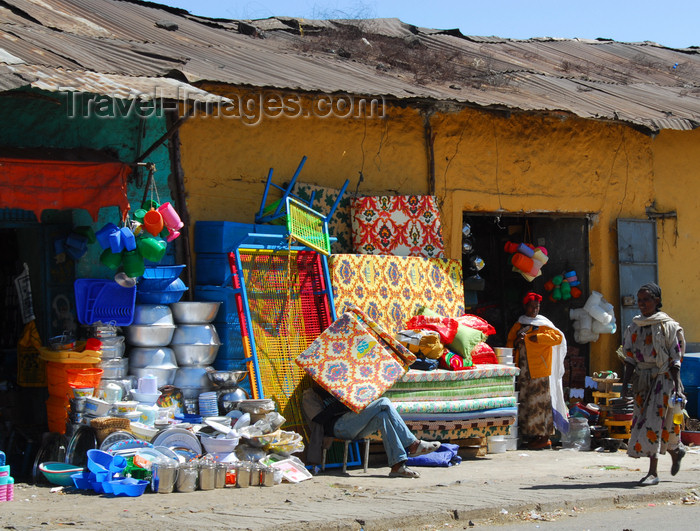 ethiopia213: Gondar, Amhara Region, Ethiopia: matress shop - photo by M.Torres - (c) Travel-Images.com - Stock Photography agency - Image Bank