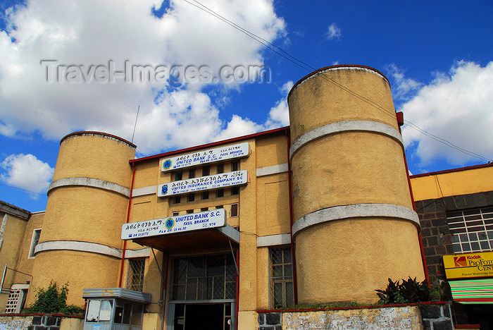 ethiopia221: Gondar, Amhara Region, Ethiopia: United Bank - Italian colonial architecture - photo by M.Torres - (c) Travel-Images.com - Stock Photography agency - Image Bank