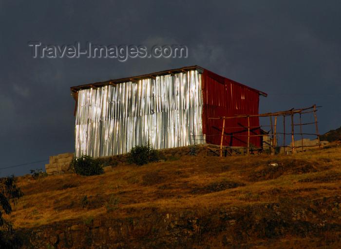 ethiopia233: Gondar, Amhara Region, Ethiopia: zinc hut shinning in the last sun rays - photo by M.Torres - (c) Travel-Images.com - Stock Photography agency - Image Bank