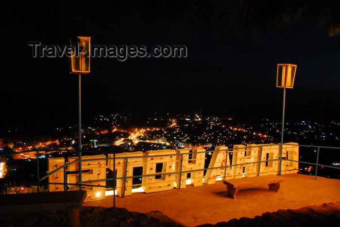 ethiopia238: Gondar, Amhara Region, Ethiopia: Goha Hotel sign and the city lights - photo by M.Torres - (c) Travel-Images.com - Stock Photography agency - Image Bank