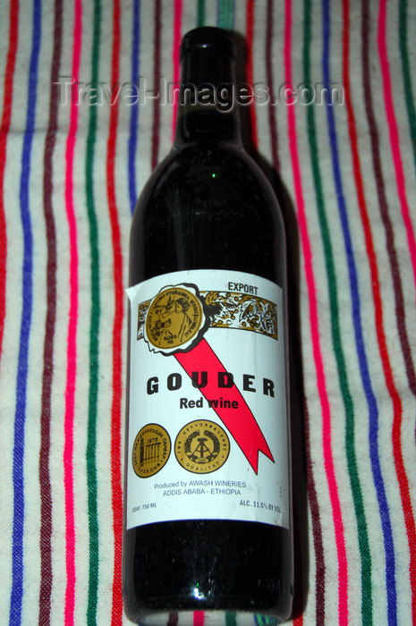ethiopia240: Gondar, Amhara Region, Ethiopia: Gouder red wine - awarded a DDR medal - photo by M.Torres - (c) Travel-Images.com - Stock Photography agency - Image Bank