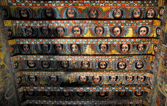 ethiopia249: Gondar, Amhara Region, Ethiopia: Debre Berham Selassie church - angles in the ceiling - photo by M.Torres - (c) Travel-Images.com - Stock Photography agency - Image Bank