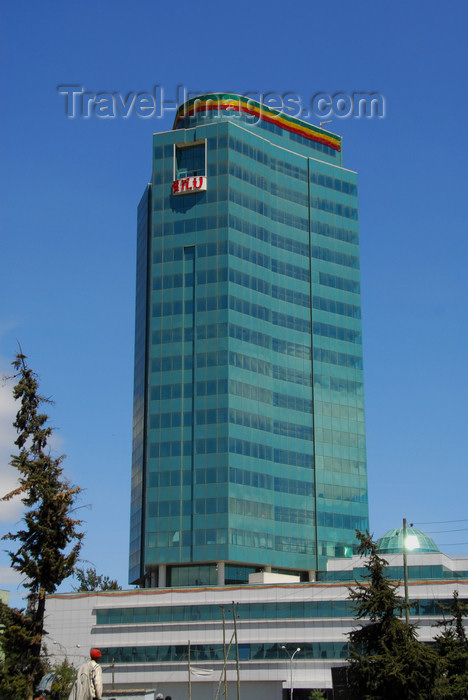 ethiopia25: Addis Ababa, Ethiopia: Nani Tower - 22- storey building in front of Ghion hotel designed by Hailegebriel Gebre Sellasie - photo by M.Torres - (c) Travel-Images.com - Stock Photography agency - Image Bank