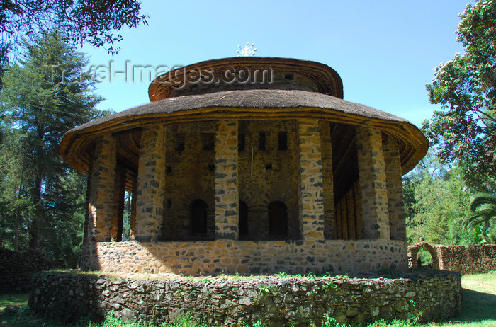 ethiopia257: Gondar, Amhara Region, Ethiopia: Debre Berham Selassie church - back facade - photo by M.Torres - (c) Travel-Images.com - Stock Photography agency - Image Bank
