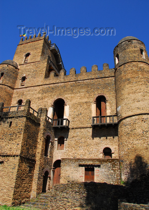 ethiopia273: Gondar, Amhara Region, Ethiopia: Royal Enclosure - Fasiladas' Palace - UNESCO world heritage site - Fasil Ghebbi - photo by M.Torres - (c) Travel-Images.com - Stock Photography agency - Image Bank
