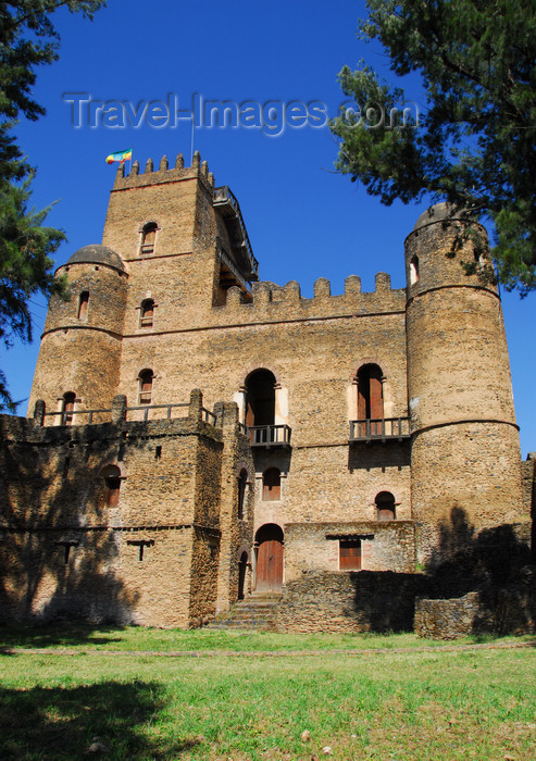 ethiopia274: Gondar, Amhara Region, Ethiopia: Royal Enclosure - Fasiladas' Palace - SE facade - photo by M.Torres - (c) Travel-Images.com - Stock Photography agency - Image Bank