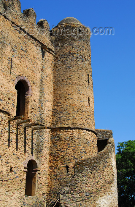 ethiopia288: Gondar, Amhara Region, Ethiopia: Royal Enclosure - Iyasu palace - tower with spiral stairs - photo by M.Torres - (c) Travel-Images.com - Stock Photography agency - Image Bank