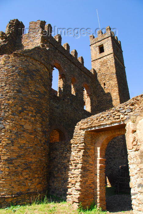 ethiopia289: Gondar, Amhara Region, Ethiopia: Royal Enclosure - Fasiladas' Archive or Chancellery - gate - photo by M.Torres - (c) Travel-Images.com - Stock Photography agency - Image Bank