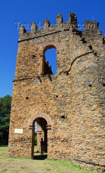 ethiopia290: Gondar, Amhara Region, Ethiopia: Royal Enclosure - Fasiladas' Archive or Chancellery - ruined tower - photo by M.Torres - (c) Travel-Images.com - Stock Photography agency - Image Bank