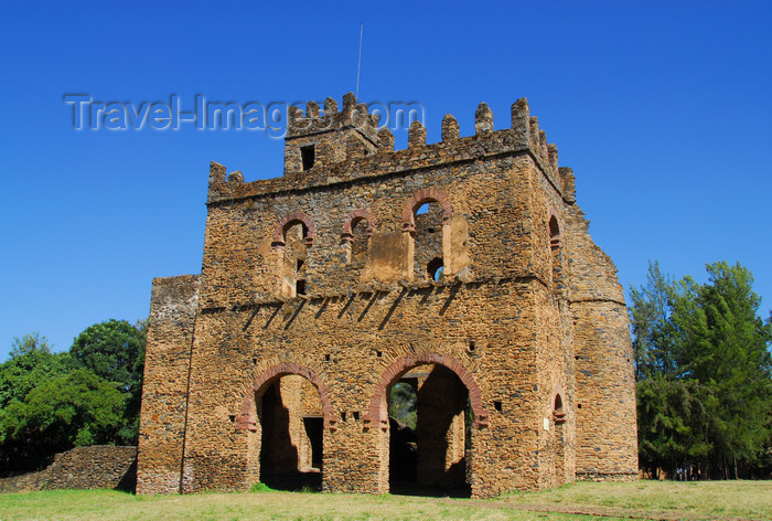 ethiopia291: Gondar, Amhara Region, Ethiopia: Royal Enclosure - Fasiladas' Archive or Chancellery - south view - photo by M.Torres - (c) Travel-Images.com - Stock Photography agency - Image Bank