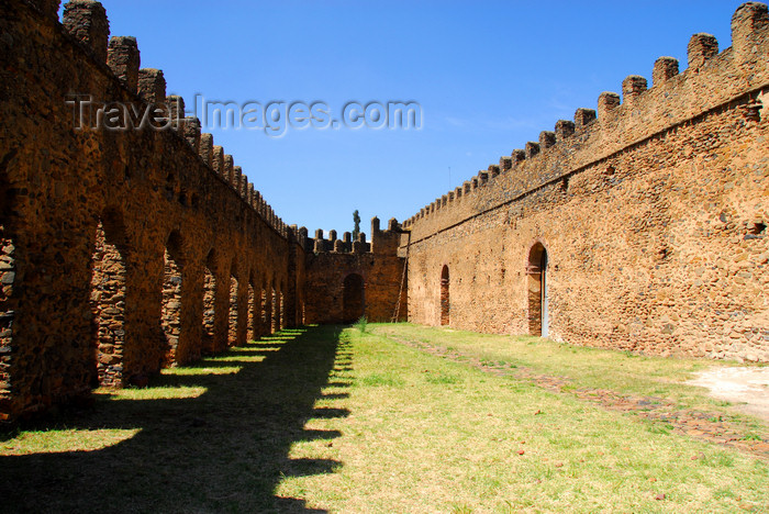 ethiopia294: Gondar, Amhara Region, Ethiopia: Royal Enclosure - Bakaffa's palace - court betweem the stables and the banqueting hall - photo by M.Torres - (c) Travel-Images.com - Stock Photography agency - Image Bank
