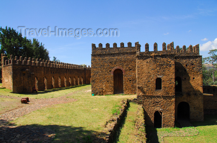 ethiopia295: Gondar, Amhara Region, Ethiopia: Royal Enclosure - Bakaffa's palace - seen from the East - photo by M.Torres - (c) Travel-Images.com - Stock Photography agency - Image Bank