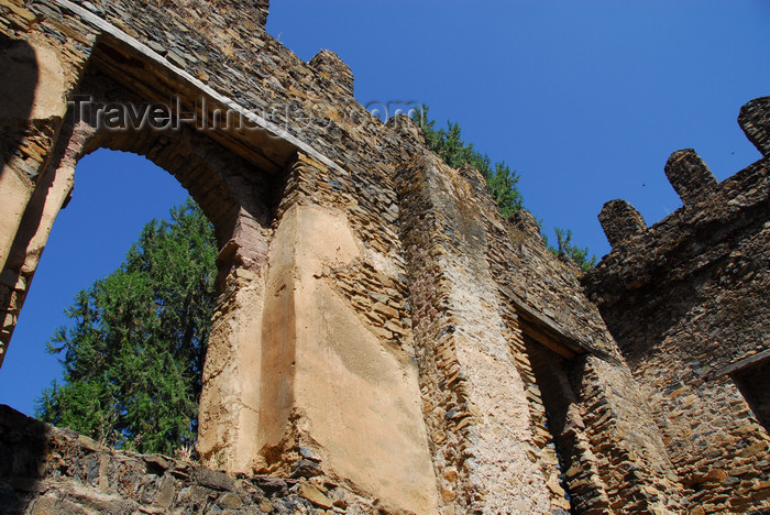 ethiopia299: Gondar, Amhara Region, Ethiopia: Royal Enclosure - Emperor Dawit's castle - some plaster remainso n the walls -  photo by M.Torres - (c) Travel-Images.com - Stock Photography agency - Image Bank