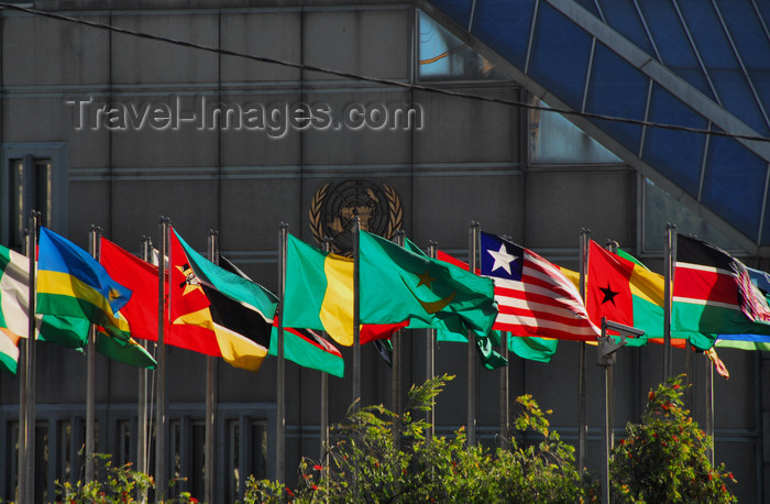 ethiopia3: Addis Ababa, Ethiopia: United Nations Economic Commission for Africa - ECA Conference Center - African Flags - photo by M.Torres - (c) Travel-Images.com - Stock Photography agency - Image Bank