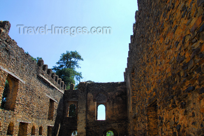 ethiopia300: Gondar, Amhara Region, Ethiopia: Royal Enclosure - Emperor Dawit's castle - interior - photo by M.Torres - (c) Travel-Images.com - Stock Photography agency - Image Bank
